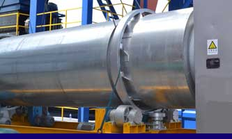 asphalt mixing plant manufacturer- dryer drum