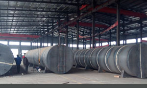 Hot mix asphalt plant bitumen tank